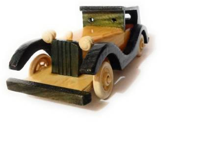 Eco Friendly Wooden Hand made RollsRoy Vintage Classic Vehicle Car Toy
